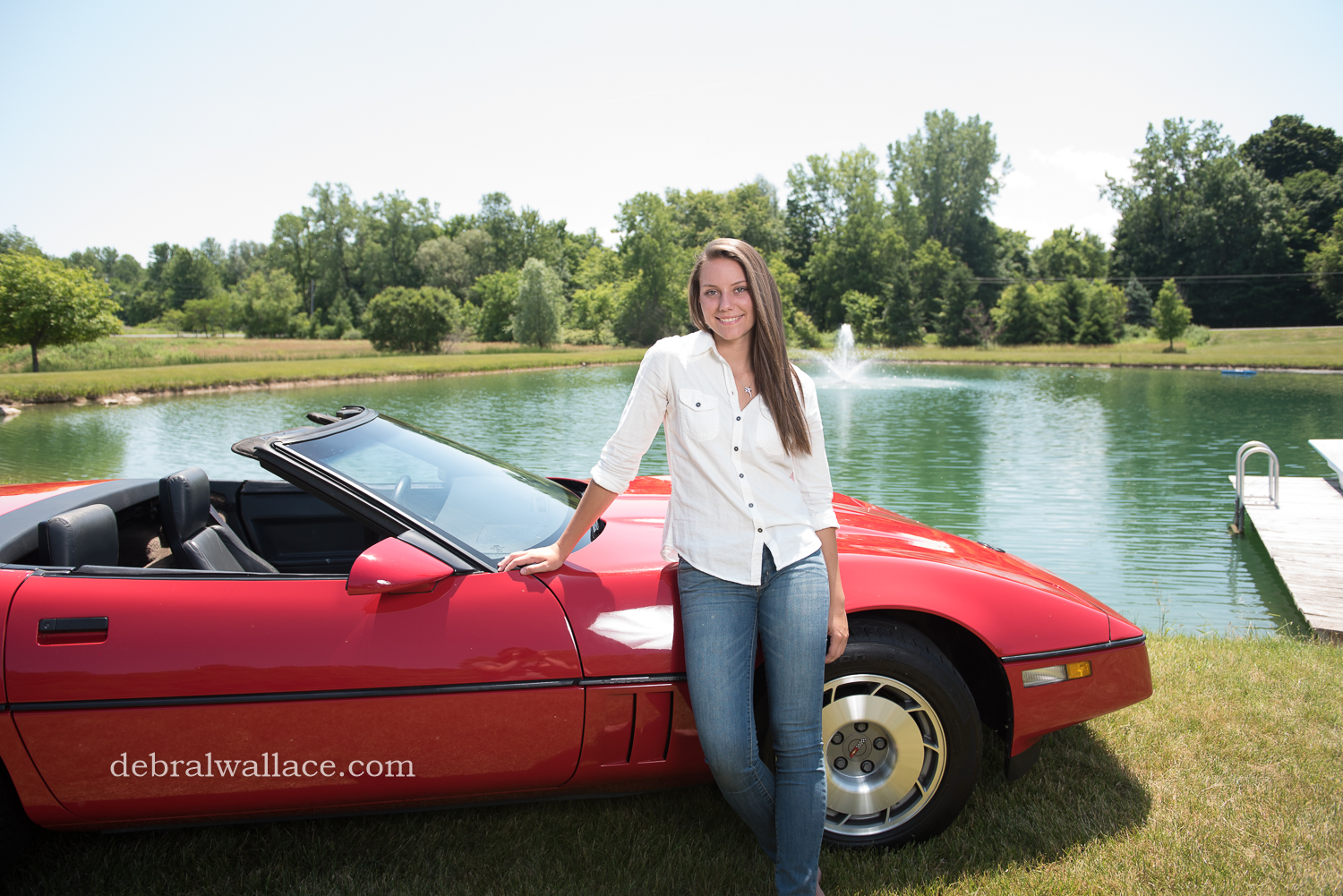 Penfield NY Family Photos vintage car themed photos senior portrait