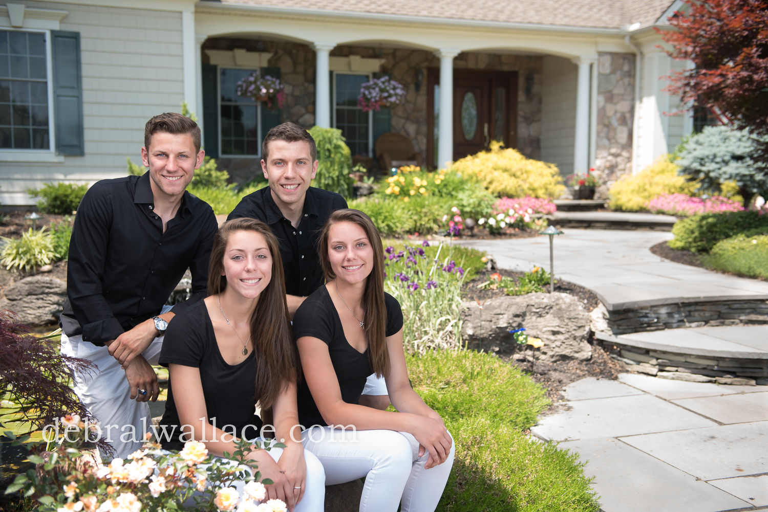 Penfield NY Family Photos professional landscaping