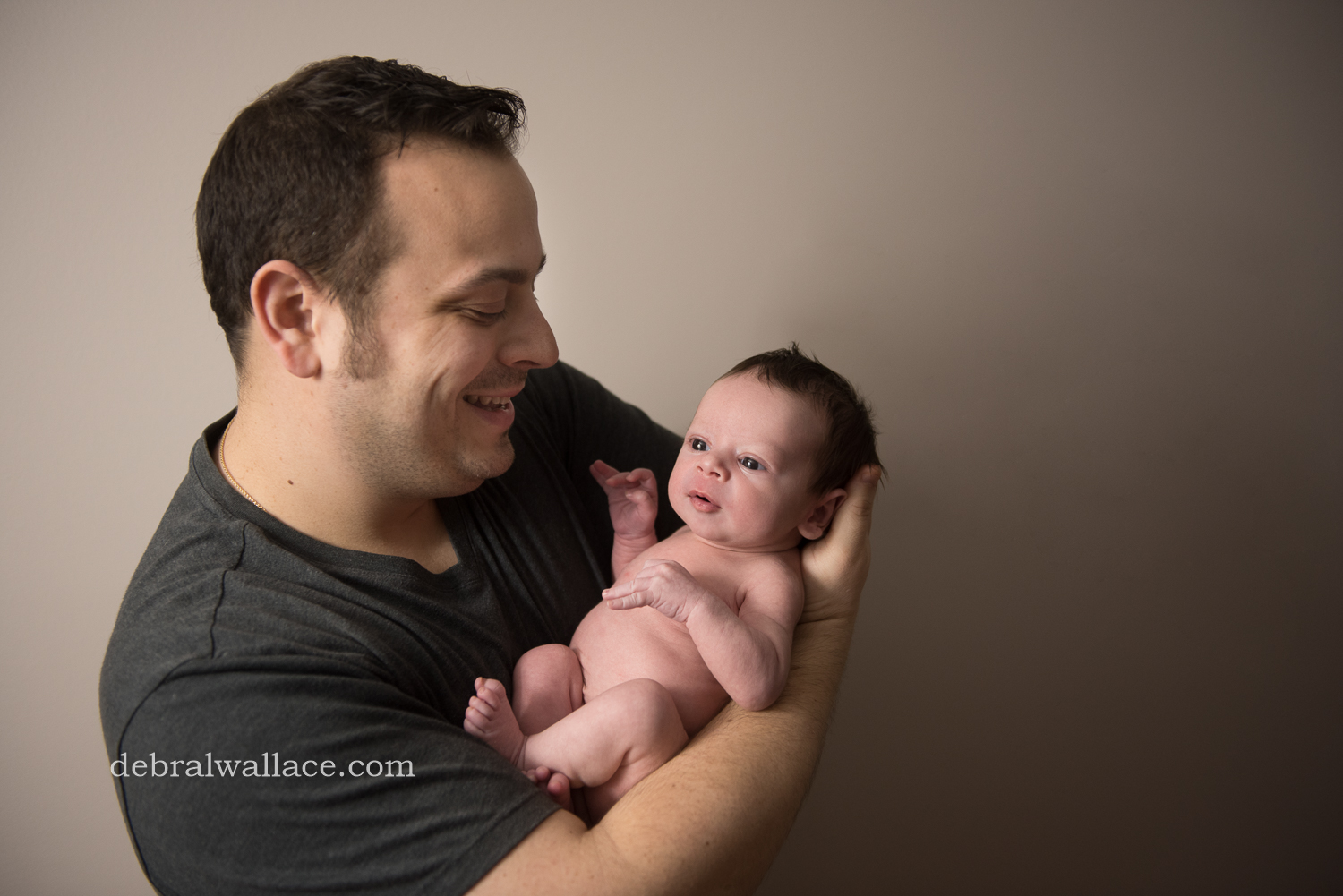Penfield NY Newborn Photography father son in home photography