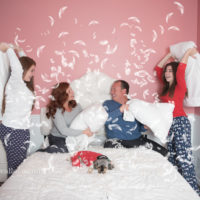 Pillow Fight Themed Family Photography ~ Margaret & Anthony