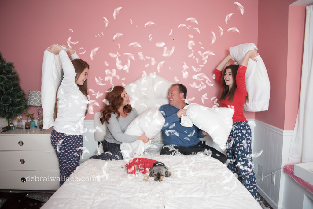 Pillow Fight Photoshoot Family